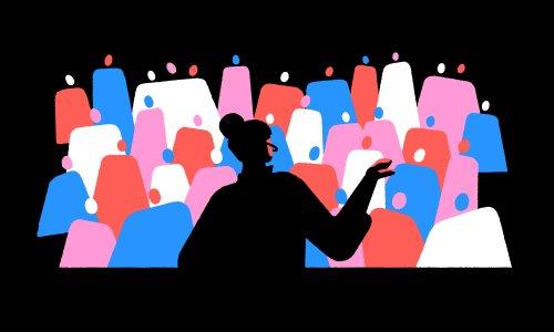 Speaker talking to an audience