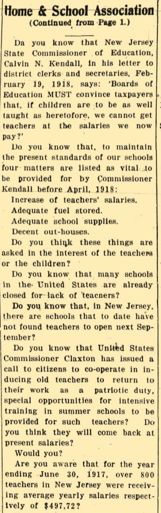 Newspaper article 1918
