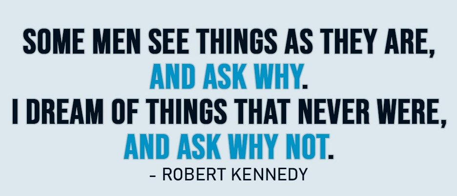 Quote by the late Senator Robert Kennedy