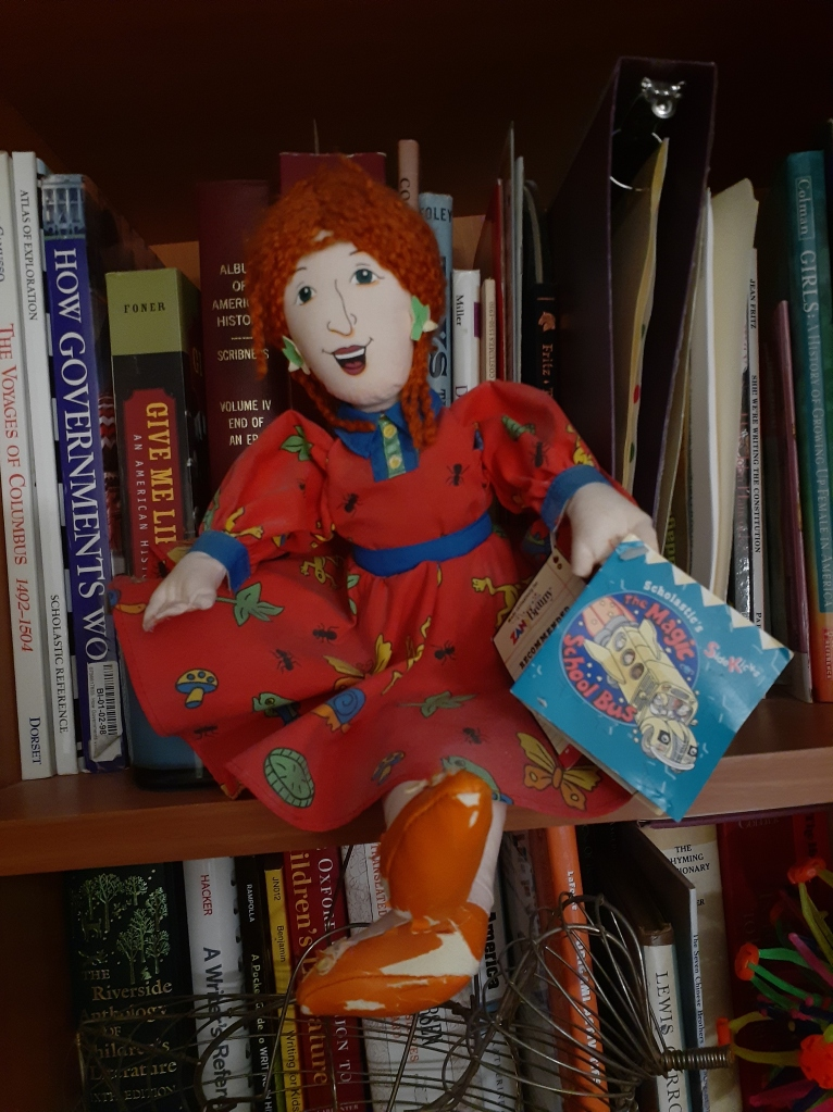 Photo of author's Miss Frizzle doll.