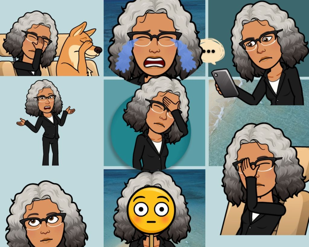 Collection of Bitmojis of the author.